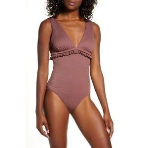 Chelsea28 Ruffle Trim One-Piece Swimsuit